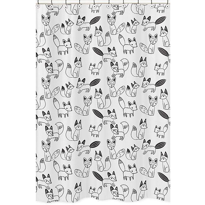 Sweet Jojo Designs Fox Shower Curtain In Black White