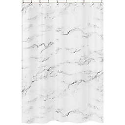 Sweet Jojo Designs Marble Shower Curtain in Black/White