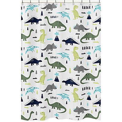 Sweet Jojo Designs Mod Dinosaur Shower Curtain