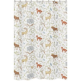 Sweet Jojo Designs® Woodland Toile Shower Curtain