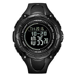 Head Avalanche Men's 50mm Digital Watch with Black Silicone Strap