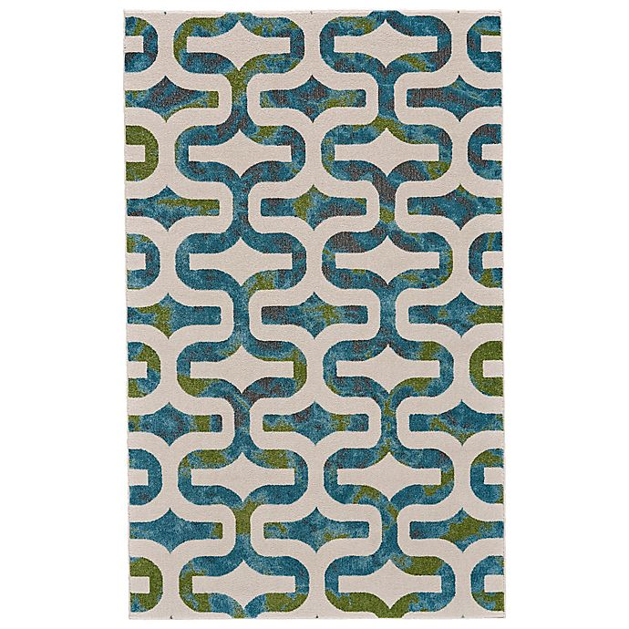 Alternate image 1 for Feizy Vassar Ogee 2-Foot 2-Inch x 4-Foot Accent Rug in Blue