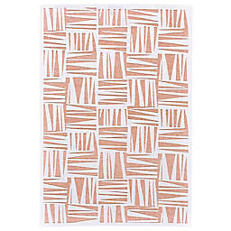 Feizy Soho Lyra Abstract Area Rug in White/Blush