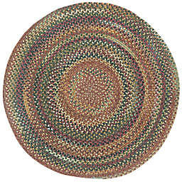 Capel Rugs Kill Devil Hill Braided 9-Foot 6-Inch Round Area Rug in Brown