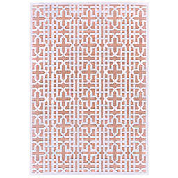 Feizy Soho Lyra Cross Area Rug in Blush/White