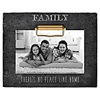 Grasslands Road®  No Place Like Home  4-Inch x 6-Inch Cement Clip Picture Frame in Black