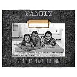 "Grasslands Road® ""No Place Like Home"" 4-Inch x 6-Inch Cement Clip Picture Frame in Black"
