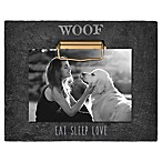 Grasslands Road®  Woof Eat Sleep Love  4-Inch x 6-Inch Cement Clip Picture Frame in Black