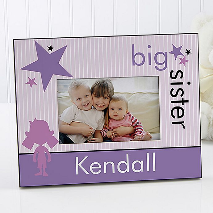Alternate image 1 for Big Baby Brother/Sister 4-Inch x 6-Inch Picture Frame