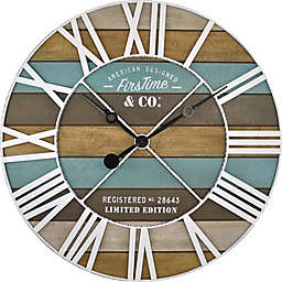 FirsTime® Maritime Planks Wall Clock