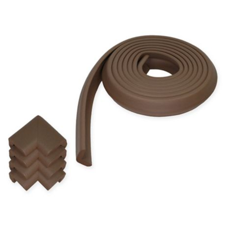 KidKusion Jumbo Edge Cushion Brown 6 ft Edge /& Corner Guards New