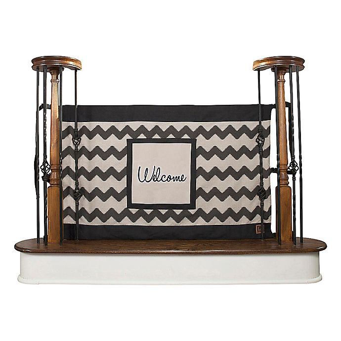 The Stair Barrier Chevron Quot Welcome Quot Banister To Banister