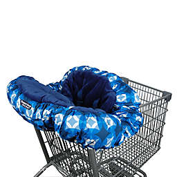 Floppy Seat® Shopping Cart Cover in Blue/White