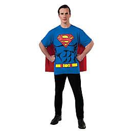 DC Comics Superman Men's T-Shirt Halloween Costume Kit