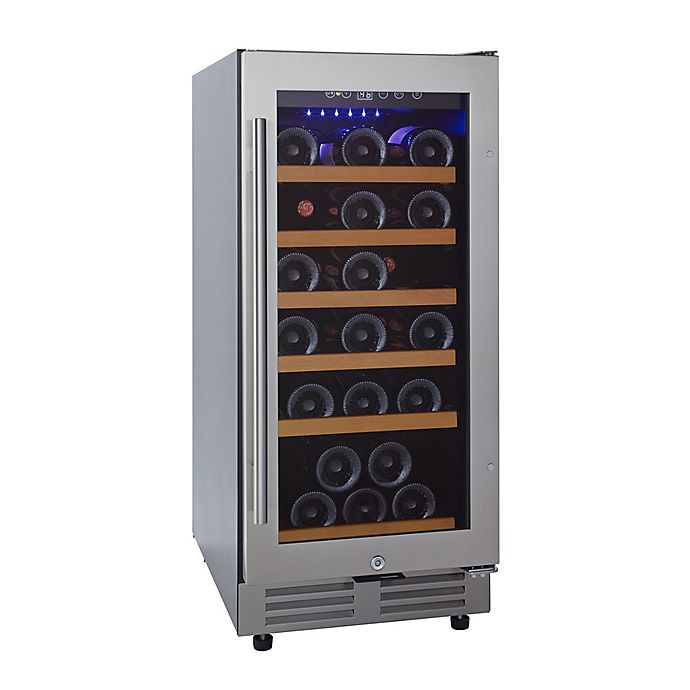 Alternate image 1 for Wine Enthusiast® Classic 30-Bottle Under Counter Wine Refrigerator in Stainless Steel