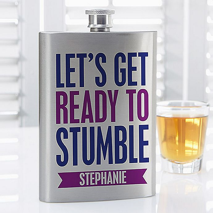 Alternate image 1 for Party It Up Funny Quote Flask