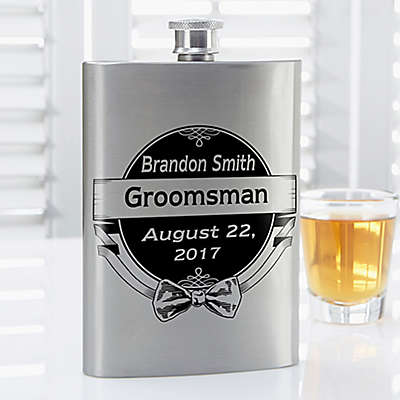 Cheers to the Groomsman Flask