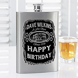 Whiskey Label Flask