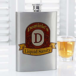 Distinguished Monogram Flask