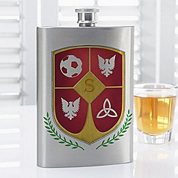 My Crest Initial Flask