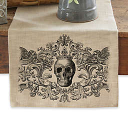 Heritage Lace® 54-Inch Gothic Skull Table Runner in Natural