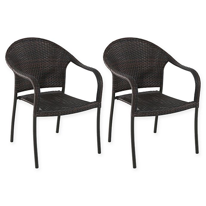 Superb Barrington Stacking Wicker Chairs Set Of 2 Bed Bath Beyond Squirreltailoven Fun Painted Chair Ideas Images Squirreltailovenorg