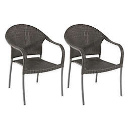 Barrington Stacking Wicker Chairs (Set of 2)
