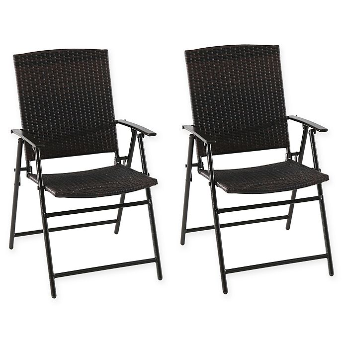 Surprising Barrington Folding Wicker Chairs In Brown Set Of 2 Cjindustries Chair Design For Home Cjindustriesco
