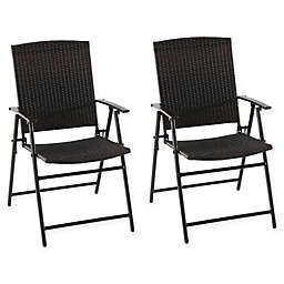 Barrington Folding Wicker Chairs (Set of 2)