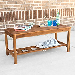 Forest Gate™ Aspen 47-Inch x 21-Inch Rectangle All-Weather Acacia Patio Coffee Table in Brown