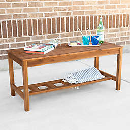 Forest Gate Aspen Acacia Wood Outdoor Coffee Table in Brown