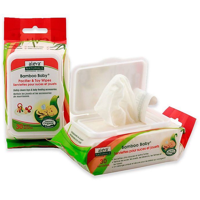 Alternate image 1 for Aleva Naturals® Bamboo Baby® 30-Count Pacifier and Toy Wipes