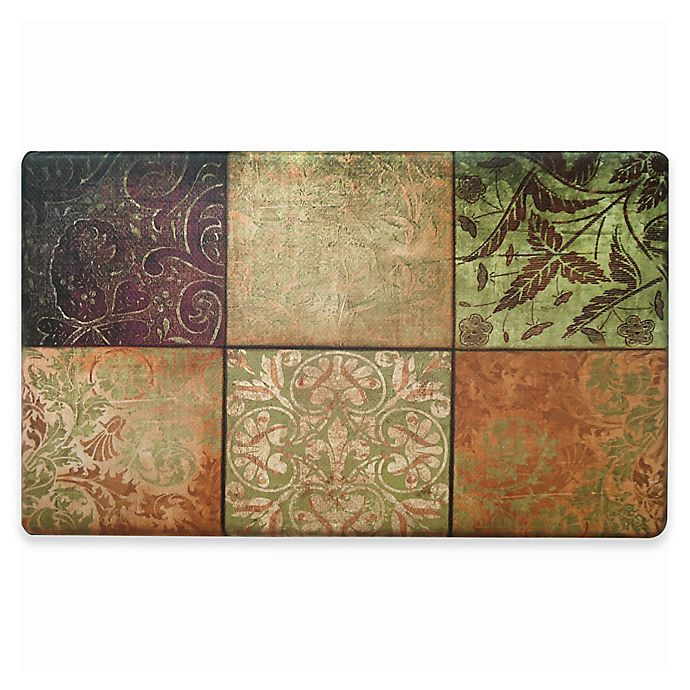 Home Dynamix Cook N Comfort 19 6 Inch X 35 4 Inch Mosaic Anti Fatigue Kitchen Mat Bed Bath Beyond