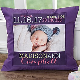 Darling Baby 18-Inch Square Keepsake Throw Pillow