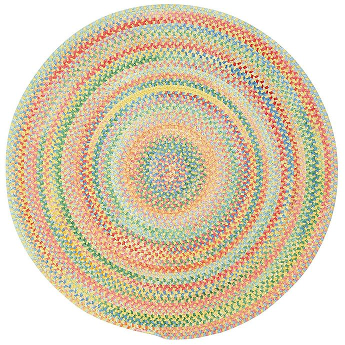 Alternate image 1 for Capel Rugs Baby's Breath Braided Round Rug in Light Yellow
