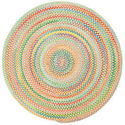 Capel Rugs Baby's Breath Braided Round Rug in Light Yellow
