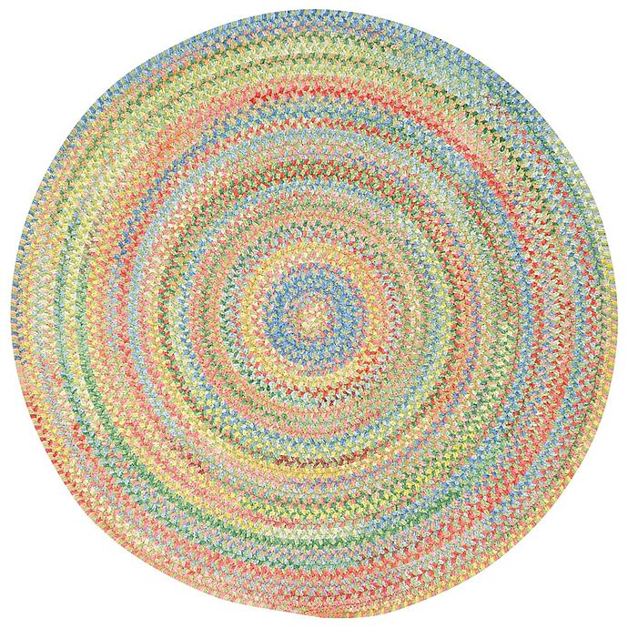 Alternate image 1 for Capel Rugs Baby's Breath Braided Round Rug in Light Green