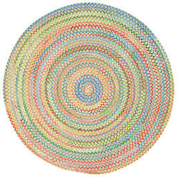 Capel Rugs Baby's Breath Braided Round Rug in Light Green