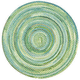 Capel Rugs Waterway 5-Foot 6-Inch  Round Braided Rug in Yellow