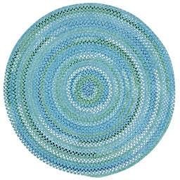 Capel Rugs Waterway Round Area Rug in Blue
