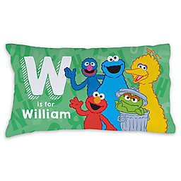 Sesame Street® Initial and Name Pillowcase in Green