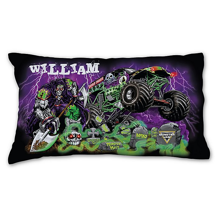 Alternate image 1 for Monster Jam Grave Pillowcase in Black