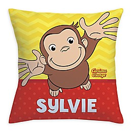 Curious George Hug Me Square Throw Pillow in Yellow
