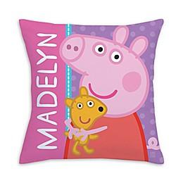 Peppa Pig Big Hug Square Throw Pillow in Pink