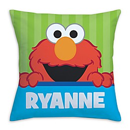 Sesame Street Peek-a-Boo Elmo Square Throw Pillow in Green