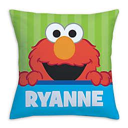 Sesame Street Peek-a-Boo Elmo Square Throw Pillow in Green