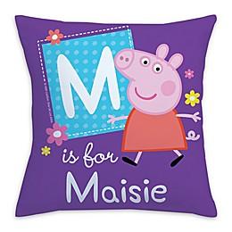 Peppa Pig Alphabet Square Throw Pillow in Purple