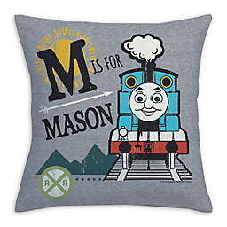 Thomas and Friends Square Throw Pillow in Grey