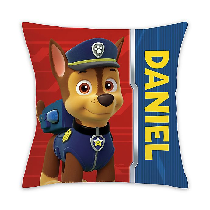 Paw Patrol Chase Square Throw Pillow In Red Bed Bath