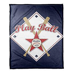 """Play Ball"" Coral Fleece Blanket"
